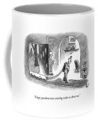 A Wife Speaks To Her Husband As He Walks Coffee Mug