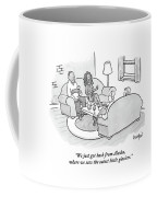A Wife Tells Guests At A Dinner Party Coffee Mug by Robert Leighton