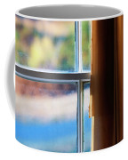 A Window With Torn Curtains Coffee Mug