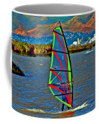 a WindSurfer's Gr8 Ride Coffee Mug by Joseph Coulombe