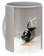 A Wine Bottle And A Glass Of Wine Coffee Mug