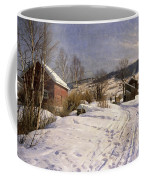 A Winter Landscape Lillehammer Coffee Mug by Peder Monsted