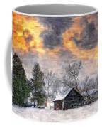 A Winter Sky Paint Version Coffee Mug