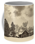 A Winter Sky Sepia Coffee Mug