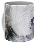 A Winter Storm Over Eastern New England Coffee Mug by Stocktrek Images