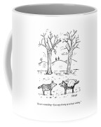 A Wolf In A Sheep Pelt Talking To Another Wolf Coffee Mug