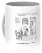 A Woman Addresses Her Husband In His Home Office Coffee Mug by Tom Toro