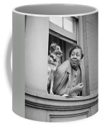 A Woman And Her Dog Coffee Mug
