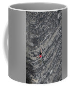 A Woman Climbs Above Her Protection Coffee Mug