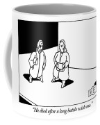 A Woman Discussing Her Deceased Husband Coffee Mug