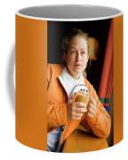 A Woman Enjoys A Warm Cup Of Cocoa Coffee Mug