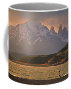A Woman Explorer, Runs The Shores Coffee Mug