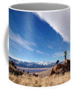 A Woman Hiking With Her Dog Coffee Mug
