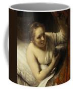 A Woman In Bed Coffee Mug