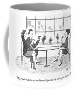 A Woman Interviews For A Job Coffee Mug