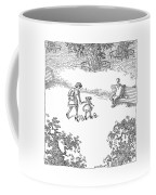 A Woman Is Seen Guiding Her Daughter Coffee Mug