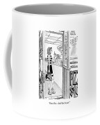 A Woman Orders A Pizza At The Counter Coffee Mug