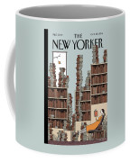 Fall Library Coffee Mug