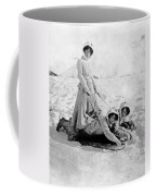 A Woman Rides On Two Friends Coffee Mug