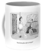 A Woman Shows Her Husband A Shining Lens Flare Coffee Mug