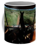 A Woman Sits In Her Safari Jeep Coffee Mug