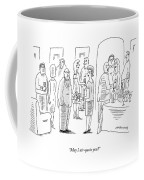 A Woman Speaks To A Man At A Cocktail Party Coffee Mug