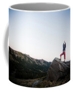 A Women Relaxes And Enjoys The Outdoors Coffee Mug