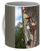 A Young Boy And Climbers In Yosemite Coffee Mug