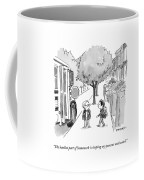 A Young Boy Talks To His Friend As They Board Coffee Mug by Pat Byrnes