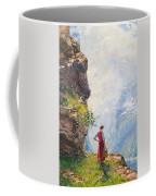 A Young Girl By A Fjord Coffee Mug