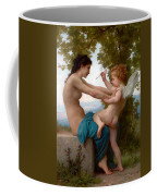 A Young Girl Defending Herself Against Eros  Coffee Mug