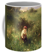 A Young Girl In A Field Coffee Mug