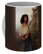 A Young Gypsy Woman With Tambourine  Coffee Mug