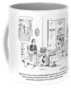 A Young Job Applicant Sits In Front Coffee Mug