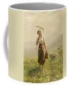 A Young Woman In The Meadow Coffee Mug