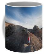 A Young Woman On A Narrow Ridge Coffee Mug