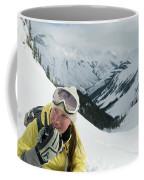 A Young Woman Radios Coffee Mug
