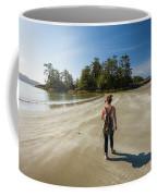 A Young Woman Walks Towards Frank Coffee Mug