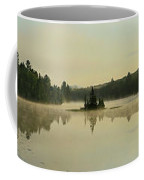 Abanakee Lake Sunrise Fog 180 Degree Coffee Mug