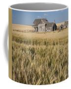 Abandoned Farmhouse In Wheat Field Coffee Mug