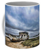 Abandoned On The Beach Coffee Mug by Nancy Ingersoll