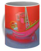 Abandoned Red Fishing Trawler Coffee Mug