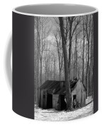 Abandoned Sugar Shack In Black And White Coffee Mug