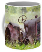 Abandoned Tractor On The Farm Coffee Mug