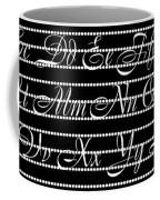 Abc 123 Black Coffee Mug