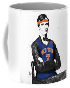 Abe Lincoln In A Carmelo Anthony New York Knicks Jersey Coffee Mug