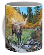 Above The Lake ..moose Coffee Mug