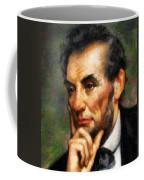 Abraham Lincoln - Abstract Realism Coffee Mug