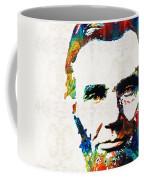 Abraham Lincoln Art - Colorful Abe - By Sharon Cummings Coffee Mug