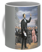 Abraham Lincoln Delivering The Gettysburg Address Coffee Mug by American School